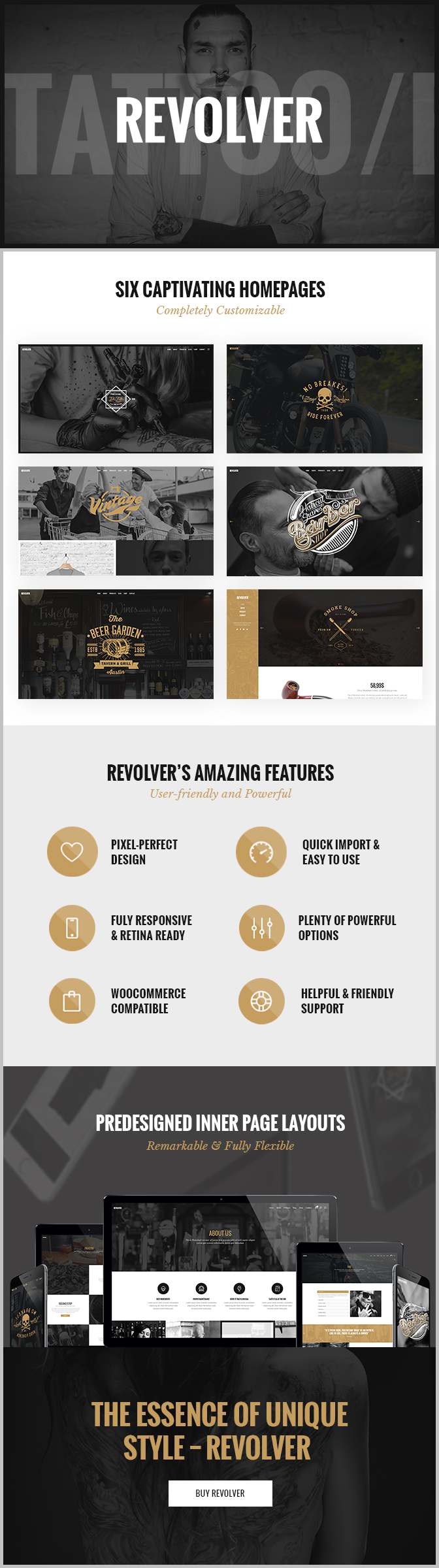 Revolver – A Gentlemen's Theme for Tattoo Salons, Barbershops, Pubs and Biker Clubs (Retail)